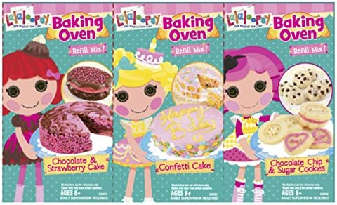 Lalaloopsy Baking Oven Refill Mix Confetti Cake and Chocolate Chip and Sugar Cookies and Chocolate product image
