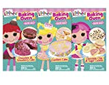 Lalaloopsy Baking Oven Refill Mix Confetti Cake and Chocolate Chip and Sugar Cookies and Chocolate and Strawberry Cake Bundle Set of 3