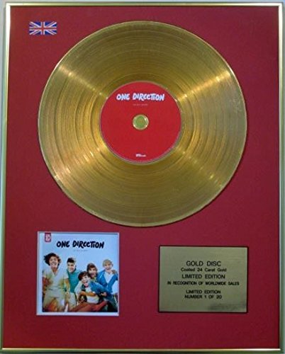 Century Music Awards One Direction Ltd Edition CD Gold Disc - UP ALL NIGHT