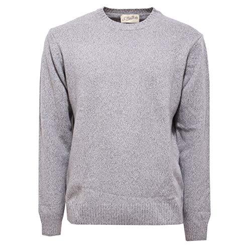 S.MORITZ 3739AB Maglione Uomo greu Melange Mix Wool Sweater Men [54]