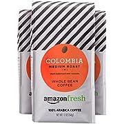 AmazonFresh Colombia Whole Bean Coffee, Medium Roast, 12 Ounce (Pack of 3)