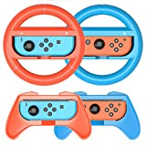 HEYSTOP Volantes y Grip Switch Joy-Con para Nintendo Switch, Switch Joy-Con Racing Wheel...