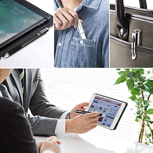 MEKOスタイラスタッチペン2本+交換用ペン先6個iPhoneiPadAndroidタブレット(ブラック/ブラック)