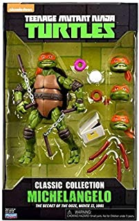 "Teenage Mutant Ninja Turtles 6"" Michelangelo with Extra Parts Classic Collection Figures"