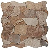 SomerTile Attica Beige 16-7/8' x 16-7/8' Ceramic Floor and Wall Tile (7 tiles/14.15 sqft.)