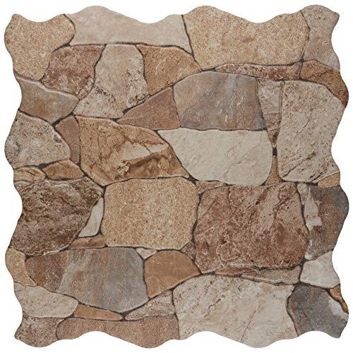 SomerTile Attica Beige 16-7/8' x 16-7/8' Ceramic Floor...
