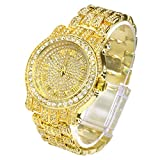 Iced Out Watch - Gold