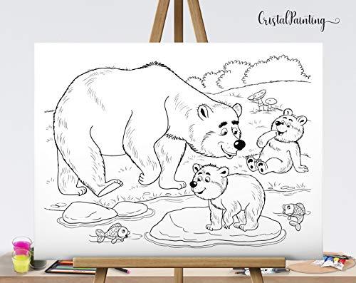 40x30 cm Leinwand zum ausmalen, Ausmalbild, Malvorlage, Ausmalvorlage, Ausmalen für Kinder, Ausmalen für erwachsene, coloring book, coloring canvas, Ausmalbild,