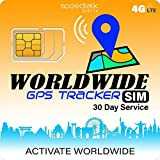 SpeedTalk Mobile GPS Tracker Worldwide SIM Card - Compatible with 4G Tracking Devices Locators - Coverage in 200 Countries