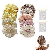 Geyan Paquete de 2 coleteros de pelo en caja 10 gomas elásticas de satén para el pelo multicolor moda suave accesorios para niñas y mujeres