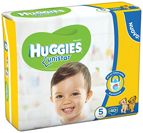 Huggies–Unistar–Windeln–Größe 5(11–25kg)–2x 20Windeln