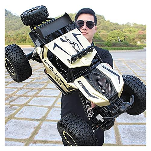 50 cm 1:10 Aleación eléctrica Radio Controlado Double Motores Double Off-Road Coche de juguete 4WD Rock Rock Crawlers Escalada RC Coche Desierto Camión Corriente Vehículo con luz de trabajo LED 2.4G C