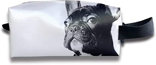 Makeup Cosmetic Bag Cool French Bulldog Graphics Medicine Bag Zip Travel Portable Storage Pouch for Mens Womens
