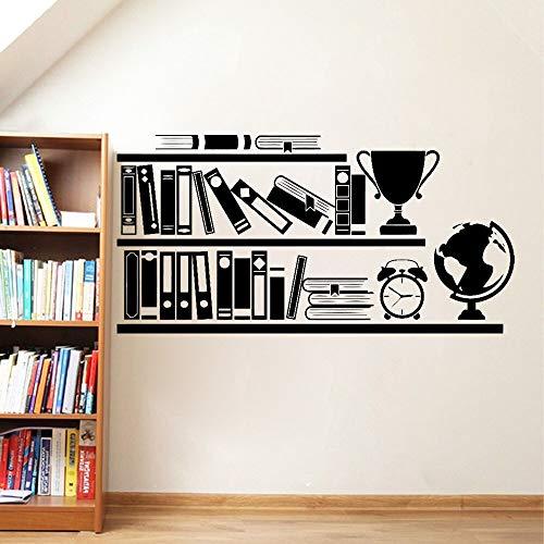 Libros Estantería Biblioteca Vinilo Pegatinas de pared Sala de estudio Atleta Gimnasio Calcomanía