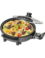 Clatronic PP 3401 partypan om te koken, braden, stomen, ontdooien en warm te houden, 1550 watt.