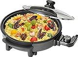 Clatronic PP 3401 Partypfanne zum Kochen, Braten, Dünsten, Auftauen und Warmhalten, 1550 Watt