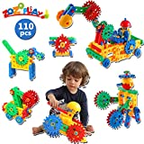 ZoZoplay STEM Toys 110 Piece Gear Toys Building Set for Kids, Learning Educational Engineering Construction...