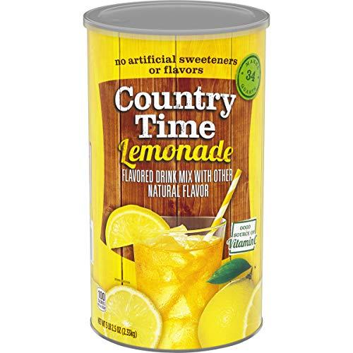 Country Time Lemonade Mix, Caffeine Free, 82.5 oz Canister
