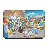 Large Puzzle The Simpsons - Alfombra de baño antideslizante, lavable, suave, para el piso de la cocina
