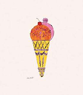 Posters: Andy Warhol Poster Art Print - Ice Cream Dessert, C.1959 (red & Pink) (14 x 11 inches)