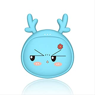WHJR Cartoon Hand Warmer Charging Treasure Mobile Power Two-in-One Constant Temperature Heating Big Ears Daydayup Blue
