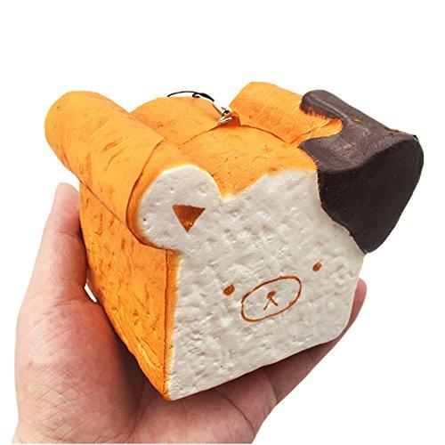 Chickwin Squishies Spielzeug, Squishies Slow Rising Charme Stress Relief Spielzeug Schlüssel Ketten Charms Kinder Spielzeug Dekor Geschenk (Brot bär)