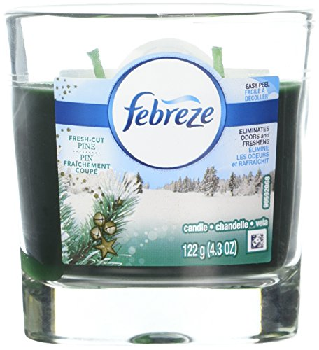 Febreze Scented Candle Fresh Cut Pine Air Freshener (1 Count, 4.3 Oz), 0.269 Pound