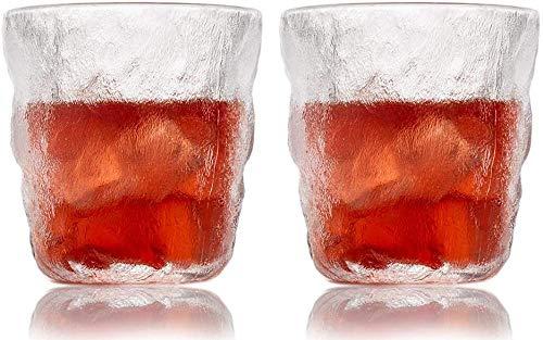 Vasos de aguaTazas de café de vidrio Copa de vino Vaso de whisky Vaso de chupito 260mlRegalo personalizado con su elección de inicial (2 PCS)