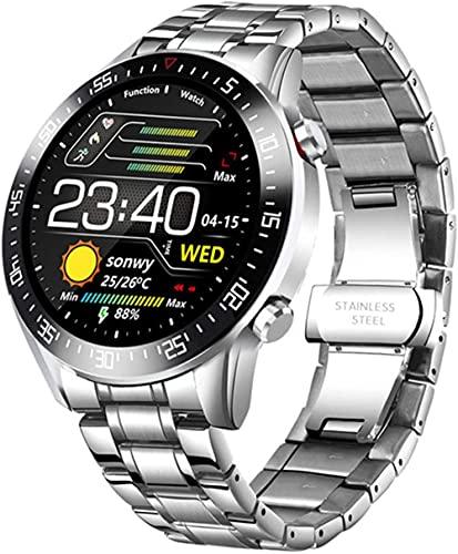 TYUI Reloj Inteligente Hombres Mujeres s Impermeable Moda Pulsera Fitness Tracker Ritmo Cardíaco Bluetooth Deportes Smartwatch para IOS Android-A