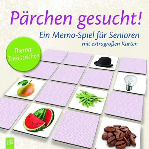 Pärchen gesucht! Thema: Teekesselchen: Ein Memo-Spiel für Senioren und Seniorinnen mit extragroßen Karten