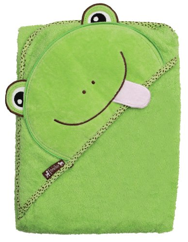 Extra Large 40'x30' Absorbent Baby Hooded Towel, Green Frog, by Frenchie Mini Couture