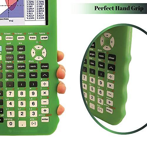 Silicone Case for Ti 84 Plus CE Calculator (Green) - Cover for Texas Instruments Ti-84 Graphing Calculator - Silicon Skin for Ti84 Plus - Protective & Anti-Scretch Cases - Ti 84 Accessories by Sully Photo #4