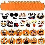 48 Piezas Kit de Manualidades de Calabazas de Halloween incluye 24 Calabazas de Espuma en Blanco y...