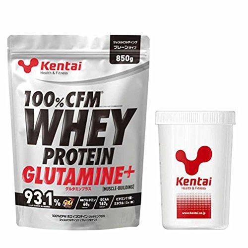 Kentai(ケンタイ) 100%CFMホエイプロテイン グルタミンプラス マッスルビルディング+Kentaiプロテインシェーカーセット K220-K005