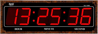 Ajanta Plastic Wall Clock (Black_685 x 240 mm)