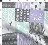 Wholecloth, Mint, Lavendel, Kinderzimmer, Mädchen,