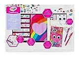CRAYOLA- Creations Super Set Diario Peluche, da Personalizzare con Adesivi e Gemme, da 8 Anni, Multicolore, 04-0661