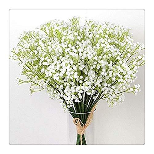 DFSDG Künstlicher weißer Atem Blumen künstliche gefälschte Gypsophila DIY Blumensträuße Anordnung Hochzeit Wohnkultur Blume