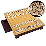 YYYUE Professional Wooden Drawer Type Japanese Shogi Board Set, High-Grade Materials and Craftsmanship, Party Home Adult Beginners Game,Basswood
