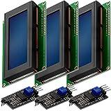 AZDelivery 3 x Modulo Pantalla LCD Display Azul HD44780 2004 con Interfaz I2C 20x4 caracteres compatible con Arduino con E-Book incluido!