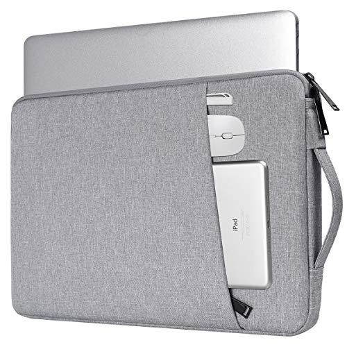 15.6 Inch Laptop Case, Notebook Chromebook Sleeve for Lenovo IdeaPad 3 15.6/Lenovo ThinkPad 15.6, LG Gram 17,HP Pavilion 15.6/Envy x360/Dell Inspiron 15 5000/Asus TUF 15.6/MSI GL63(Light Grey)