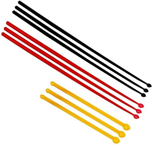 3er Set Mikro Dosierlöffel, mg Messlöffel, MICRO SCOOP (schwarz, rot, orange je 1 Messlöffel), antistatisch, BPA-frei - für das exakte Dosieren kleinster Mengen von Pulverprodukten