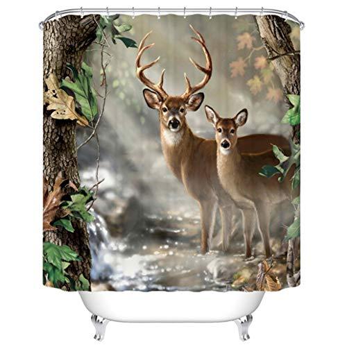 Goodbath Schimmelresistent Wasserdicht Stoff Polyester Dusche Vorhang Liner 167,6x 182,9cm 72 x 72 REH/Hirsch