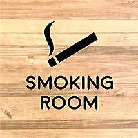 職場やご自宅にも!喫煙所ルームステッカーシール【SMOKING ROOM】 (金)