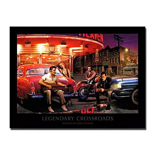 qianyuhe Cuadros de Arte de Pared Carteles e Impresiones Marilyn Monroe James Dean Elvis Presley Humphrey BogHot Art Poster decoración del hogar 60x90cm (24x36inch