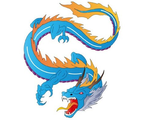 Fenstersticker No.344 Dragon of Fight tiere drachen feuer magisch china Fenstersticker Fensterfolie Fenstertattoo Fensterbild Fenster-Deko Fensteraufkleber Fensterdekoration Glas-Sticker Größe: 72cm x 60cm