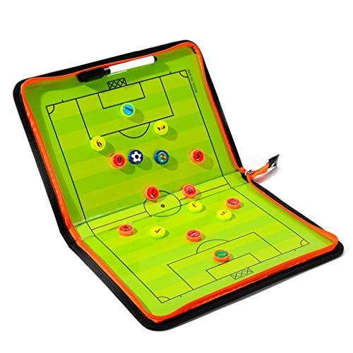 Nanxi Pizarra de Tácticas de Fútbol,Entrenador Carpeta táctica,Entrenamiento Futbol,Plegable,fácil de Llevar,Pizarras de Tácticas para de Deportes 28cm*41cm