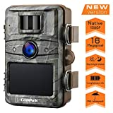 Campark Upgrade T70 Trail Game Camera No Glow 16MP 1080P Night Vision Outdoor Hunting Cam Security Motion Activated Camera with 2.4' LCD and IP66 Waterproof Battery Powered