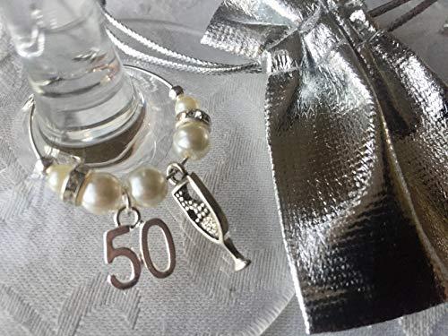 50th Birthday Wine Glass Charm 2021 Gin Gift
