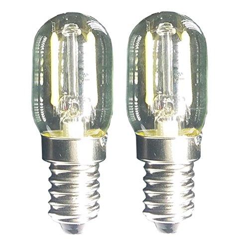 Luz De Filamento LED 1.5w T22 E14 Base Bombilla De Microondas 240v 20w LáMparas Incandescentes Equivalentes Para Refrigerador Horno De Microondas Candelabro Lava Luz De Escritorio, Paquete De 2